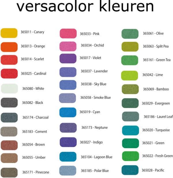Versacolor kleuren