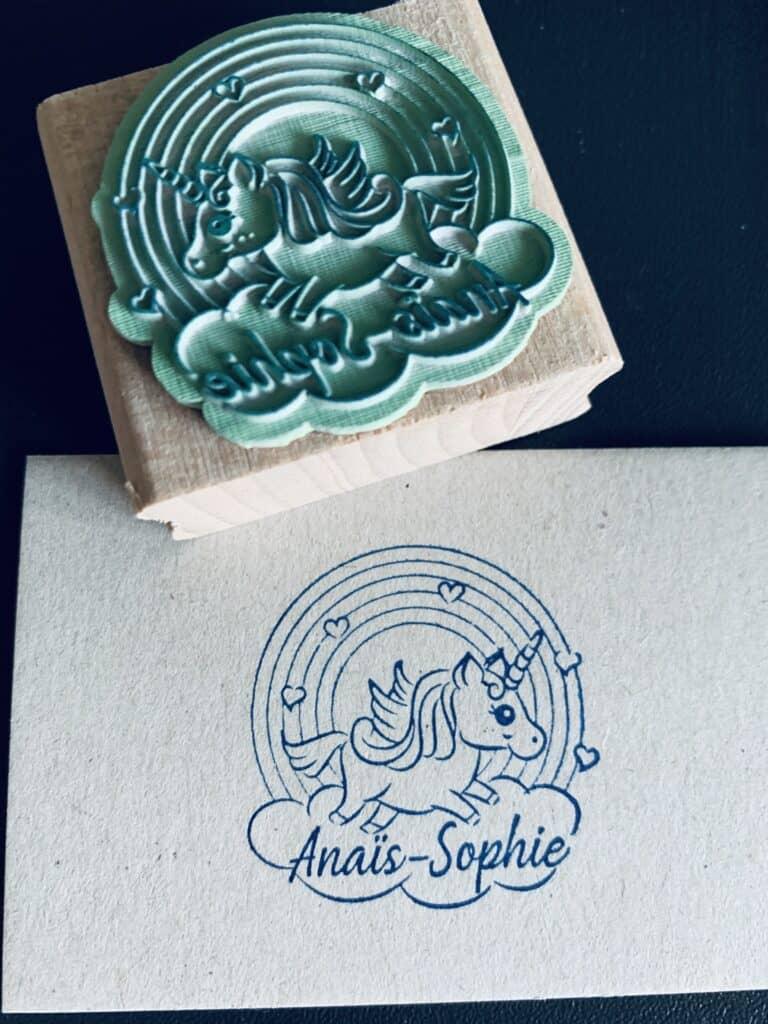 naamstempel unicorn