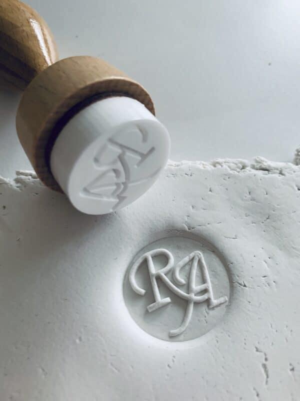 kleistempel met opdruk