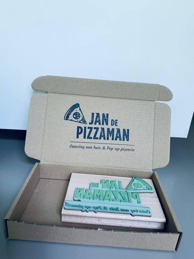 logo stempel voor verpakking