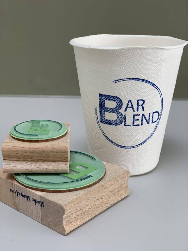 stempel voor op koffiebekers
