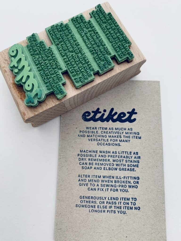 stempel voor textiel